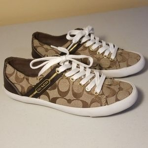 Coach Lesley Brown & Tan Sneakers